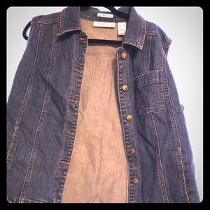 Denim button down vest by Liz Claiborne size xl